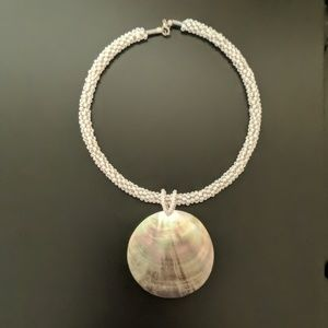 Shell Pendant Beaded Necklace